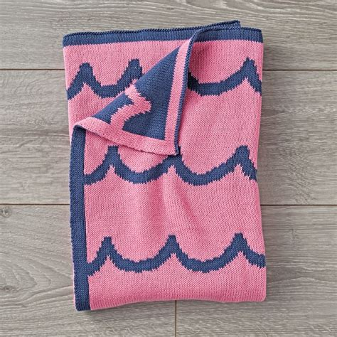 pink knitted blanket pink knitted baby blanket the land of nod