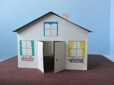 3d Paper House Children S Craft Doovi