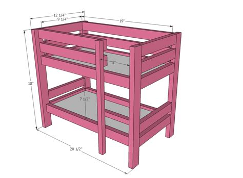 bunk bed woodworking plans woodwork doll loft bed plans pdf plans