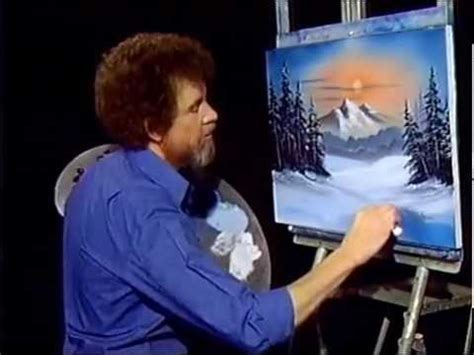 bob ross painting by episodes bob ross winter evergreens season 9 episode 1