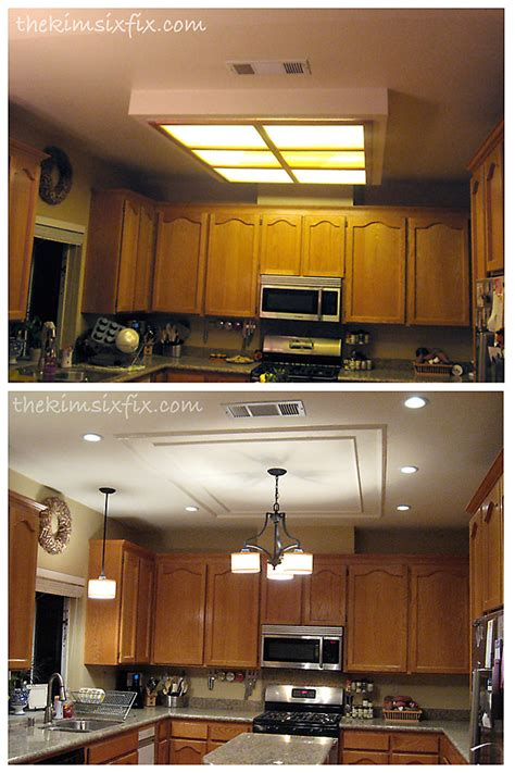 kitchen light box hometalk replacing updating fluorescent ceiling box