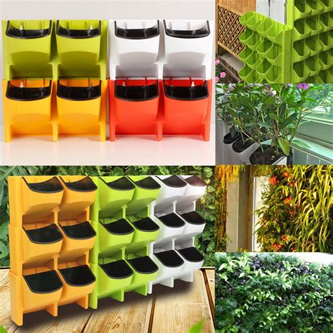 self watering vertical planters 2 pocket vertical wall planter self watering hanging