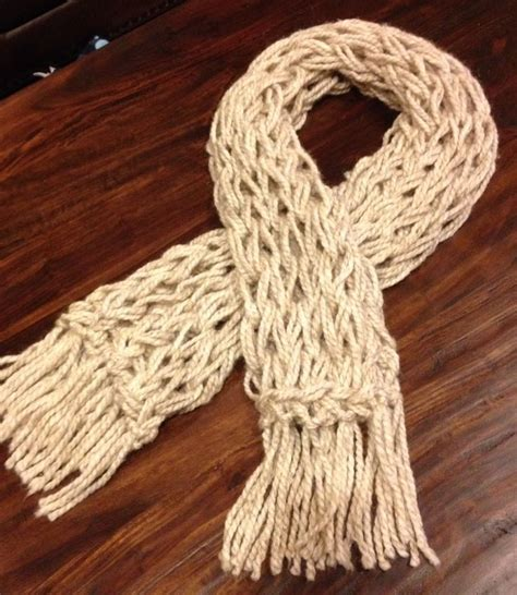 arm knitting scarf ivory arm knitted scarf crafts