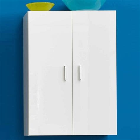 White High Gloss Bathroom Wall Cabinets by Wilmore Wall Bathroom Cabinet In White With High Gloss