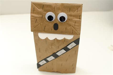 paper bag puppet craft chewbacca paper bag puppet a grande