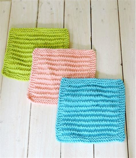 knitting patterns for larger easy farmhouse kitchen dishcloths allfreeknitting