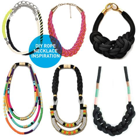 how to make rope jewelry diy inspiration rope necklaces