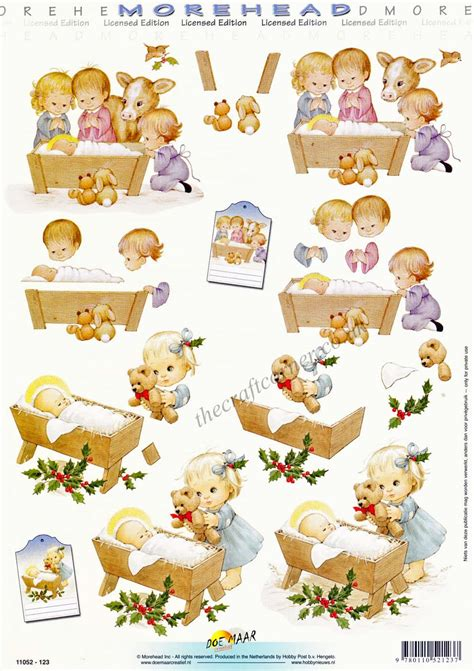 3d decoupage paper morehead children in a nativity 3d decoupage