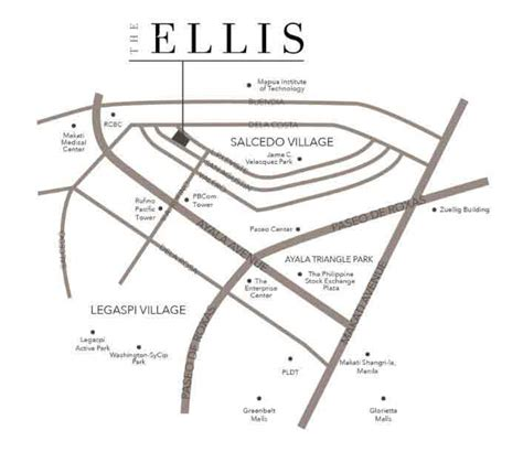 Location of Megaworld The Ellis Makati Condo For Sale in