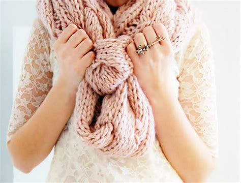 pink knits pink chunky knit scarf knitting is awesome