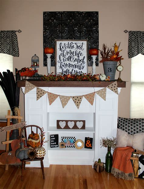 decorate with fireplace mantel decorating for fall ellery designs