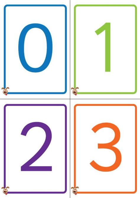 number templates for card best 25 number flashcards ideas on free