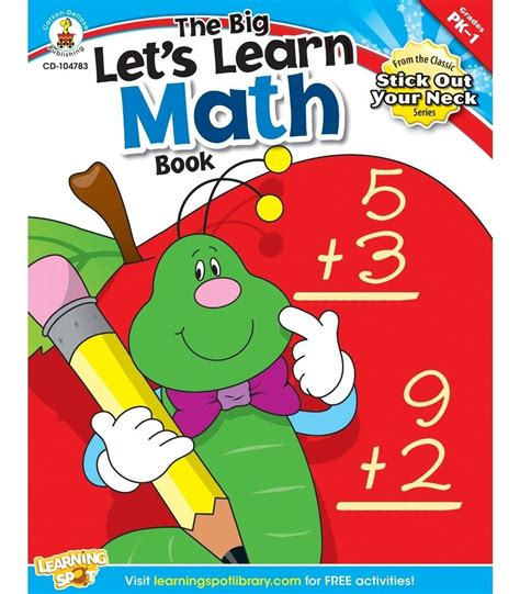 math book pictures the big let s learn math book resource book grade pk 1