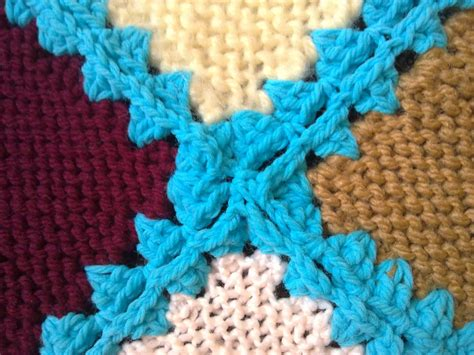 how to knit 3 together s simply living crocheting knitted squares together
