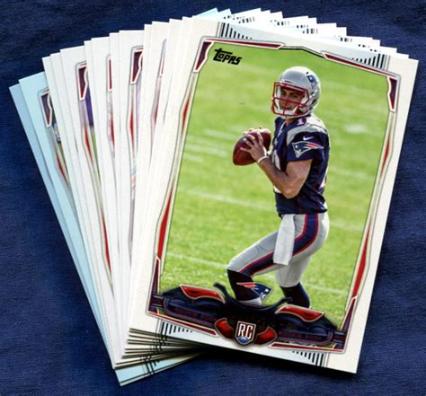 how to make a football card 2014 topps new patriots nfl football card team set