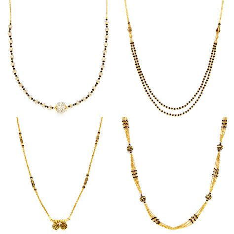 black jewellery small chains black mangalsutra chains jewellery designs
