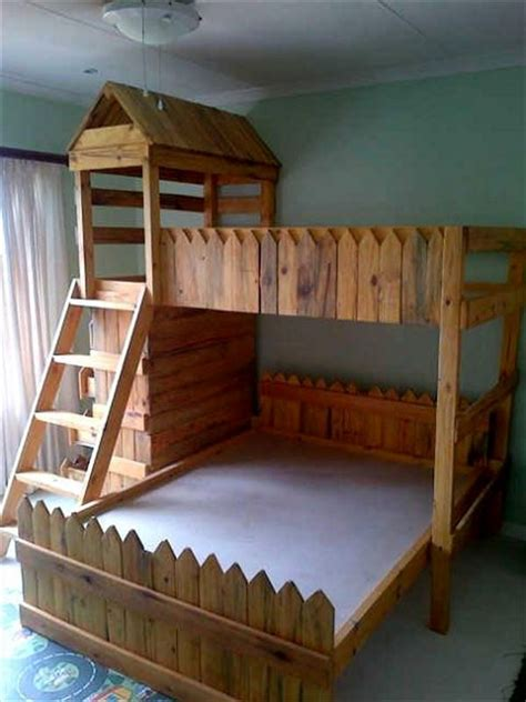 wood loft bunk bed pallet bunk bed projects pallet wood projects