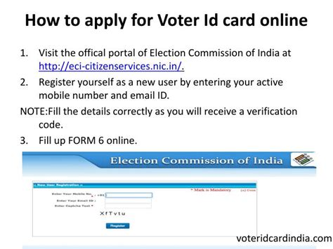 how to make voter id card ppt apply for voter id card powerpoint
