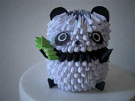 3d origami panda 3d origami panda