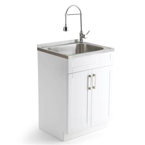 kitchen sink and cabinet utility sinks for laundry simpli home hennessy 23 6 in w x 19 7 in d x 35 7 in h