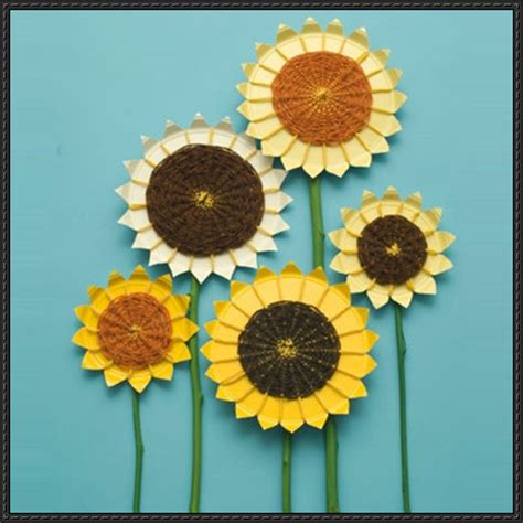 sunflower paper plate craft papercraftsquare new paper craft sunflower paper