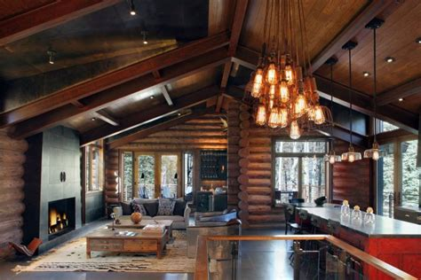 modern log home interiors rustic and contemporary interior design by trulinea architects studio frank decoholic