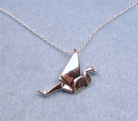 origami peace cranes origami peace crane necklace sterling silver
