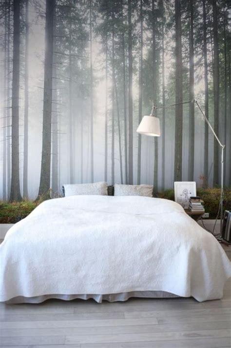 bedroom mural ideas carta da parati bosco da letto homerefresh