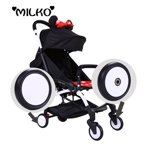 rubber st roller 2 pieces baby strollers front wheels babyzen yoyo