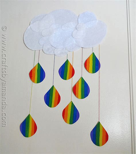 crafts with construction paper for adults rainbow crafts cloud and rainbow raindrops crafts by amanda