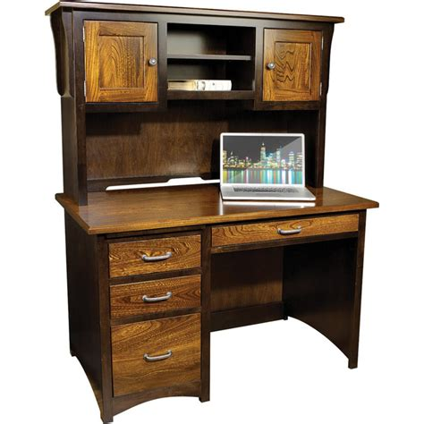 student desk with hutch creekside student desk with hutch amish crafted furniture