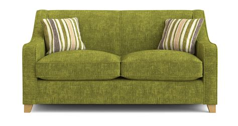 green sofa bed dfs lime green fabric 2 seater sofa bed ebay