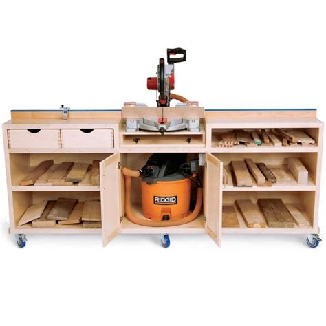 woodworking journal miter saw station plans free woodworking projects plans