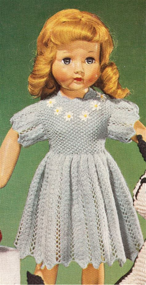 vintage dolls knitting patterns vintage knitting pattern to make 18 quot doll clothes fancy