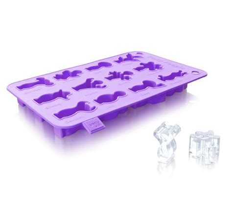 Anolon Kitchen Knives vacu vin party people silicone ice cube tray purple