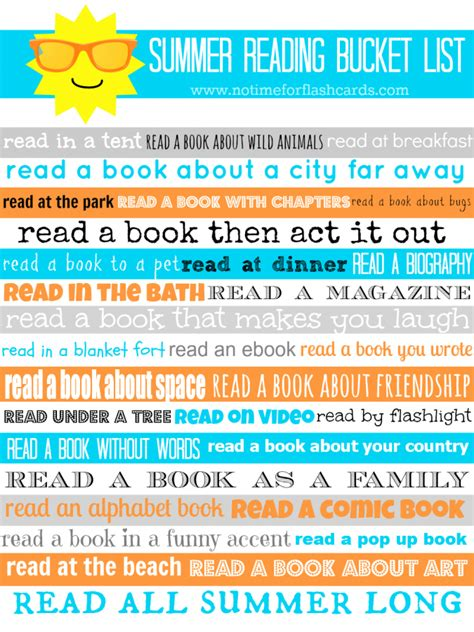 read last summer reading list with free printable no time