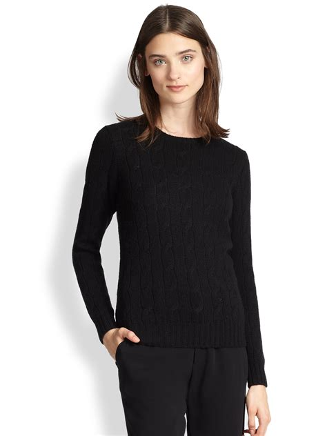 womens ralph cable knit sweater ralph black label cable knit sweater in