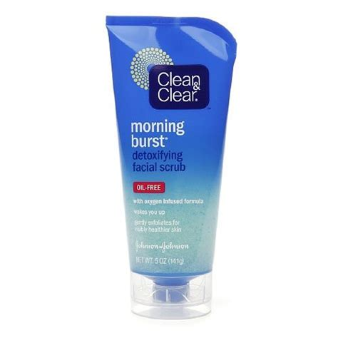 bursting clean and clear clean clear morning burst detoxifying scrub