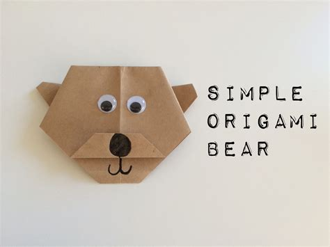 origami bears simple origami school