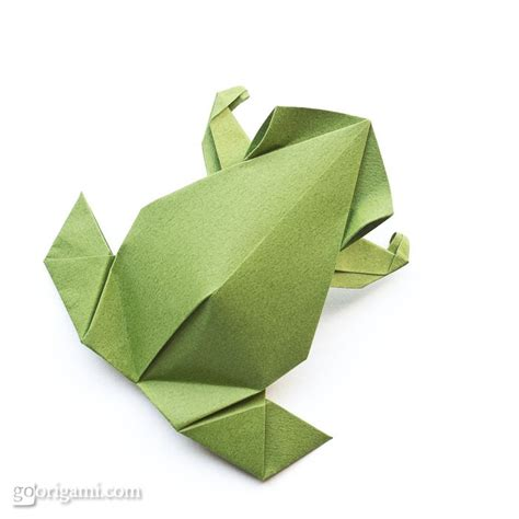 single sheet origami flower pre columbian frog by leyla torres