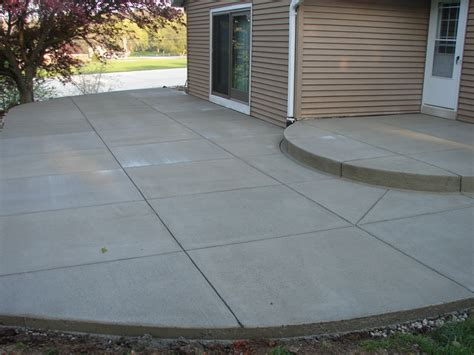 backyard concrete patio designs concrete patios milwaukee jbs construction