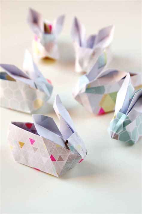 origami easter bunny basket 22 easter diys to try at home the craftables
