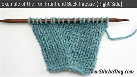 increase in next stitch knitting how to knit the purl front and back increase new stitch