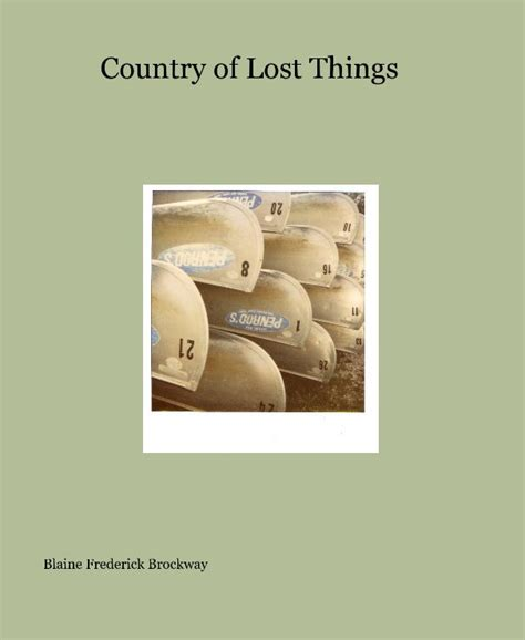 the lost thing picture book pdf country of lost things by blaine frederick brockway arts