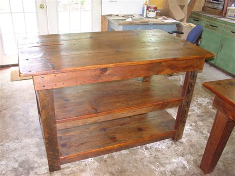farm table kitchen island primitivefolks rustic pine farm tables country harvest tables kitchen islands more made