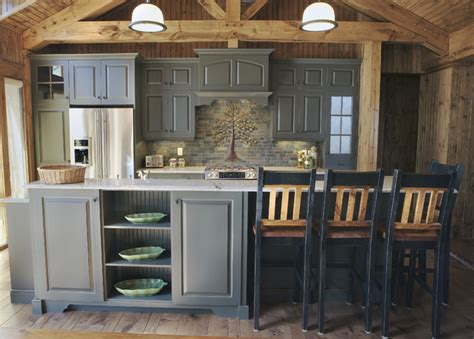 rustic paint colors for kitchen cabinets elmwood custom cabinetry rustic kitchen other