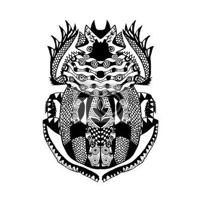 Tattoo Sticker Drucken by Zentangle Stilisierter Scarab 228 Us Sketch F 252 R Tattoo