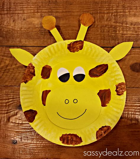 giraffe craft for paper plate giraffe craft for crafty morning