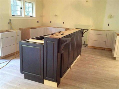 how to install kitchen island cabinets the images collection of cabinets build modern diy kitchen island using base cabinets how to