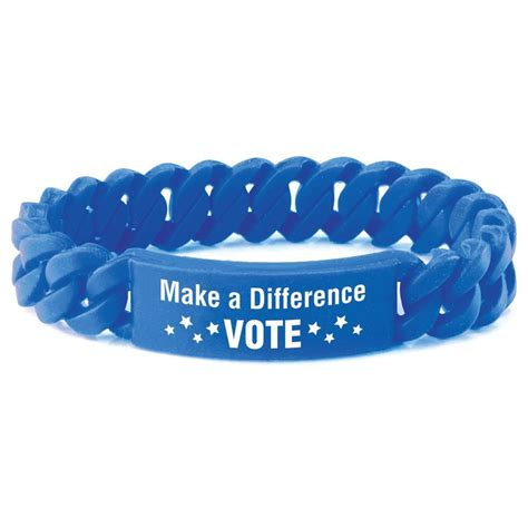 jewelry that makes a difference make a difference vote silicone link bracelet positive